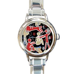 Family Round Italian Charm Watch by Valentinaart