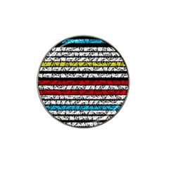 Simple Colorful Design Hat Clip Ball Marker by Valentinaart