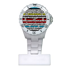Simple Colorful Design Plastic Nurses Watch by Valentinaart