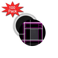 Simple Magenta Lines 1 75  Magnets (100 Pack)  by Valentinaart