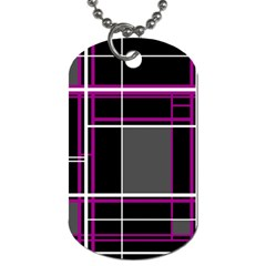 Simple Magenta Lines Dog Tag (two Sides) by Valentinaart
