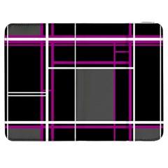 Simple Magenta Lines Samsung Galaxy Tab 7  P1000 Flip Case by Valentinaart