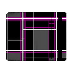 Simple Magenta Lines Samsung Galaxy Tab Pro 8 4  Flip Case by Valentinaart