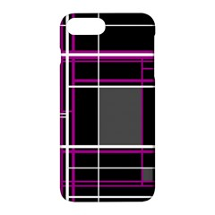 Simple Magenta Lines Apple Iphone 7 Plus Hardshell Case by Valentinaart