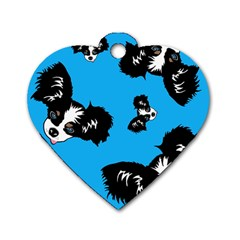 Cute Face Dog Funny Detective Dog Tag Heart (one Side) by AnjaniArt