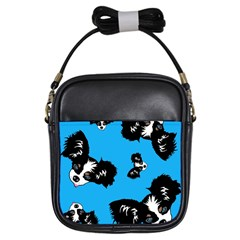 Cute Face Dog Funny Detective Girls Sling Bags by AnjaniArt