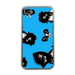 Cute Face Dog Funny Detective Apple Iphone 4 Case (clear) by AnjaniArt