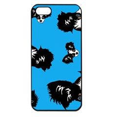 Cute Face Dog Funny Detective Apple Iphone 5 Seamless Case (black) by AnjaniArt
