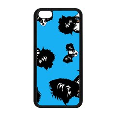 Cute Face Dog Funny Detective Apple Iphone 5c Seamless Case (black) by AnjaniArt