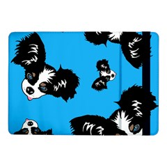 Cute Face Dog Funny Detective Samsung Galaxy Tab Pro 10 1  Flip Case by AnjaniArt