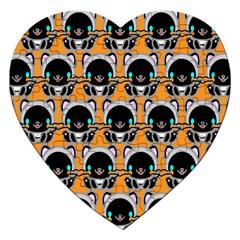 Cute Panda Jigsaw Puzzle (heart) by AnjaniArt