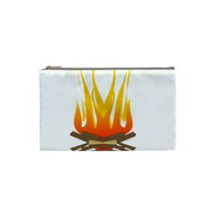 Fire Cosmetic Bag (small)  by AnjaniArt
