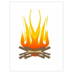 Fire Drawstring Bag (large) by AnjaniArt