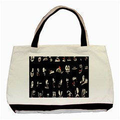 Face Mask Animals Basic Tote Bag by AnjaniArt