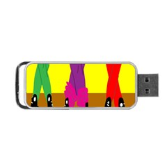 Foot Dance Portable Usb Flash (one Side) by AnjaniArt