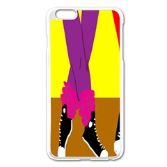 Foot Dance Apple Iphone 6 Plus/6s Plus Enamel White Case by AnjaniArt