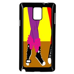 Foot Dance Samsung Galaxy Note 4 Case (black) by AnjaniArt