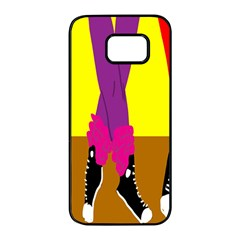 Foot Dance Samsung Galaxy S7 Edge Black Seamless Case by AnjaniArt