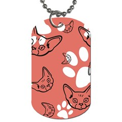Face Cat Pink Cute Dog Tag (two Sides) by AnjaniArt