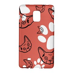 Face Cat Pink Cute Galaxy Note Edge by AnjaniArt