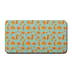 Cute Cat Animals Orange Medium Bar Mats by AnjaniArt