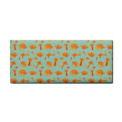 Cute Cat Animals Orange Cosmetic Storage Cases by AnjaniArt