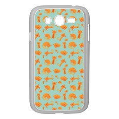 Cute Cat Animals Orange Samsung Galaxy Grand Duos I9082 Case (white) by AnjaniArt