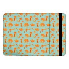 Cute Cat Animals Orange Samsung Galaxy Tab Pro 10 1  Flip Case by AnjaniArt