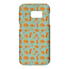 Cute Cat Animals Orange Samsung Galaxy S7 Hardshell Case