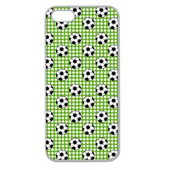 Green Ball Apple Seamless Iphone 5 Case (clear) by AnjaniArt