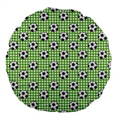 Green Ball Large 18  Premium Round Cushions by AnjaniArt