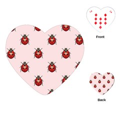 Insect Animals Cute Playing Cards (heart)  by AnjaniArt