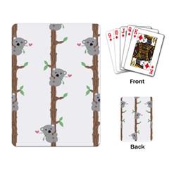 Koala Pattern Playing Card by AnjaniArt