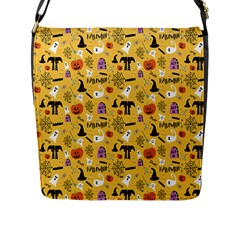 Halloween Pattern Flap Messenger Bag (l)  by AnjaniArt