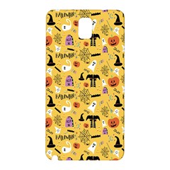 Halloween Pattern Samsung Galaxy Note 3 N9005 Hardshell Back Case by AnjaniArt