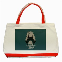 Man And Black Cat Classic Tote Bag (red) by AnjaniArt
