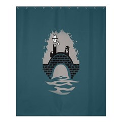 Man And Black Cat Shower Curtain 60  X 72  (medium)  by AnjaniArt