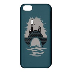 Man And Black Cat Apple Iphone 5c Hardshell Case by AnjaniArt