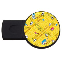 Highway Town Usb Flash Drive Round (2 Gb)  by AnjaniArt