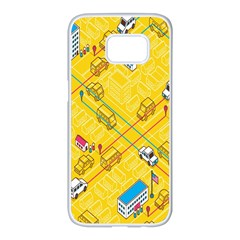 Highway Town Samsung Galaxy S7 Edge White Seamless Case by AnjaniArt