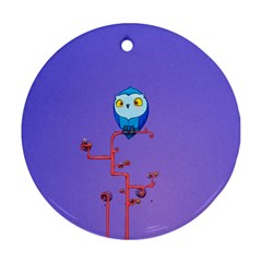 Owl Spider Ornament (round)  by AnjaniArt