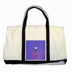 Owl Spider Two Tone Tote Bag by AnjaniArt