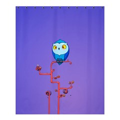 Owl Spider Shower Curtain 60  X 72  (medium)  by AnjaniArt