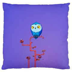 Owl Spider Large Cushion Case (Two Sides) by AnjaniArt