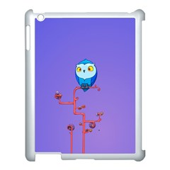 Owl Spider Apple Ipad 3/4 Case (white) by AnjaniArt