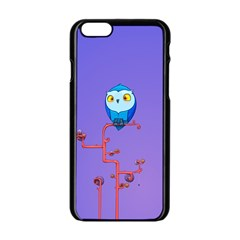 Owl Spider Apple Iphone 6/6s Black Enamel Case by AnjaniArt