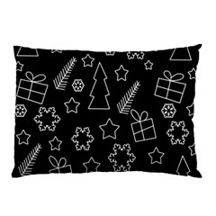 Simple Xmas Pattern Pillow Case by Valentinaart