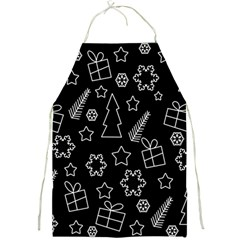 Simple Xmas Pattern Full Print Aprons by Valentinaart