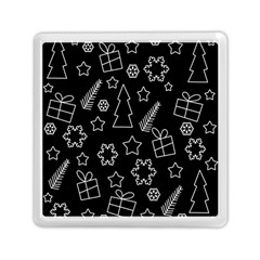 Simple Xmas Pattern Memory Card Reader (square)  by Valentinaart