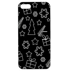 Simple Xmas Pattern Apple Iphone 5 Hardshell Case With Stand by Valentinaart